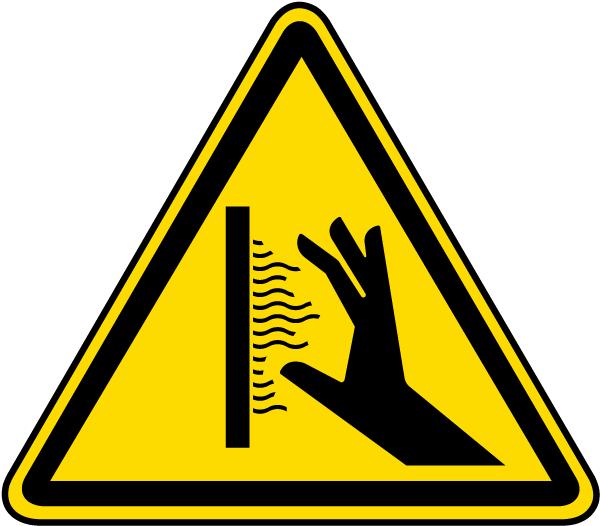 Hot Surface Warning Vertical Label
