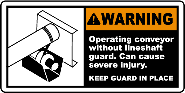 Keep Lineshaft Guard In Place Label