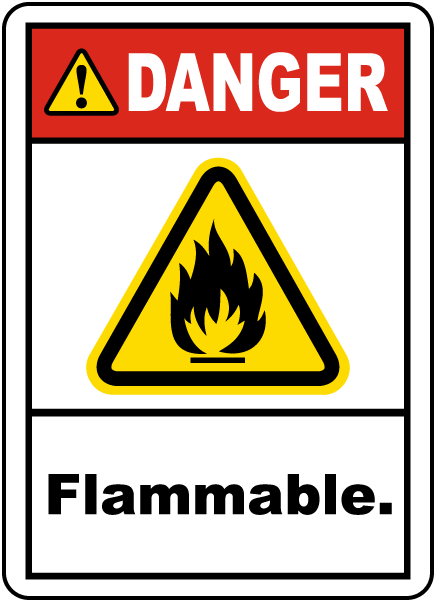 Danger Flammable Label