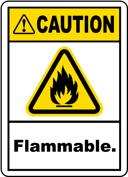 Caution Flammable Label