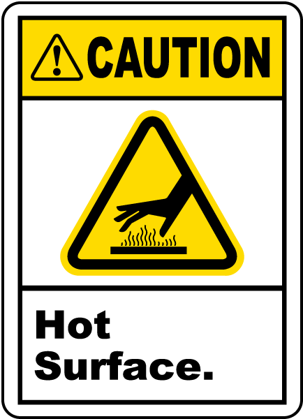Caution Hot Surface Label