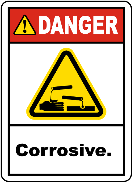 Danger Corrosive Label