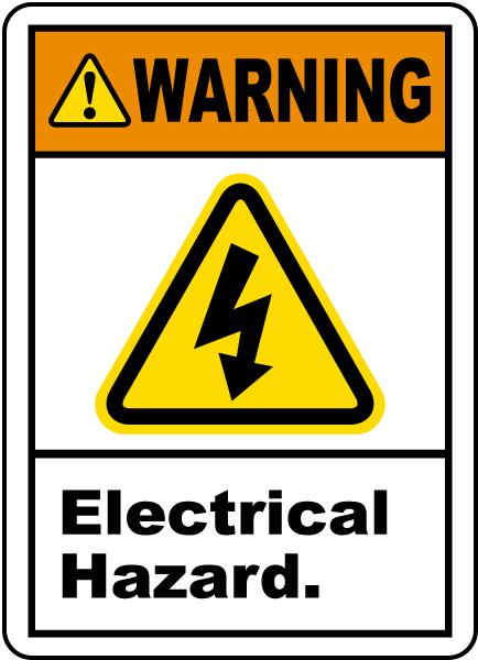 Warning Electrical Hazard