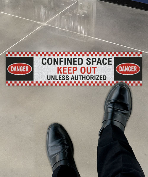 Confined Space Keep Out Floor Sign