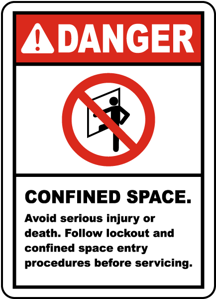 Danger Confined Space Avoid Serious Injury or Death. Follow Lockout and Confined Space Entry Procedures before Servicing.