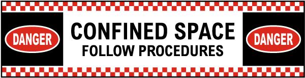 Follow Procedures Floor Sign