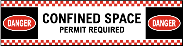 Permit Required Floor Sign
