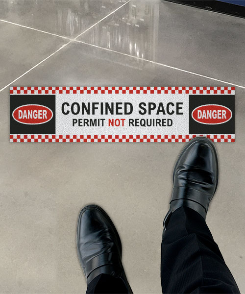 Permit Not Required Floor Sign
