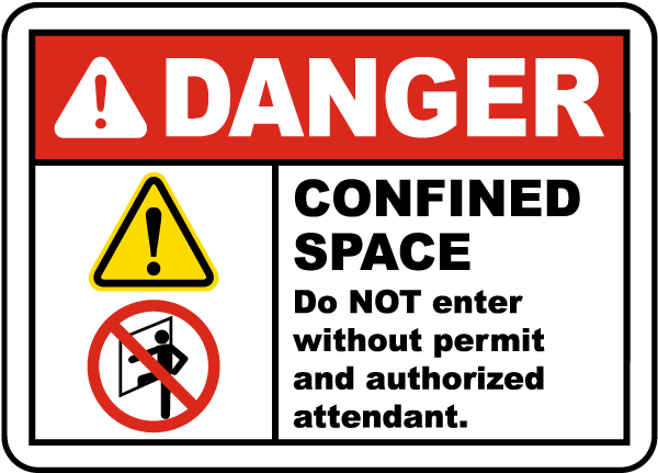 Do Not Enter Without Permit Label