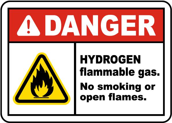 Hydrogen Flammable Gas Label