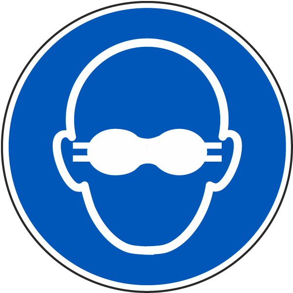 Wear Opaque Eye Protection Label