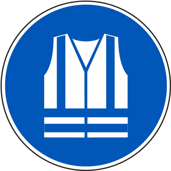 Wear High-Visibility Clothing Label