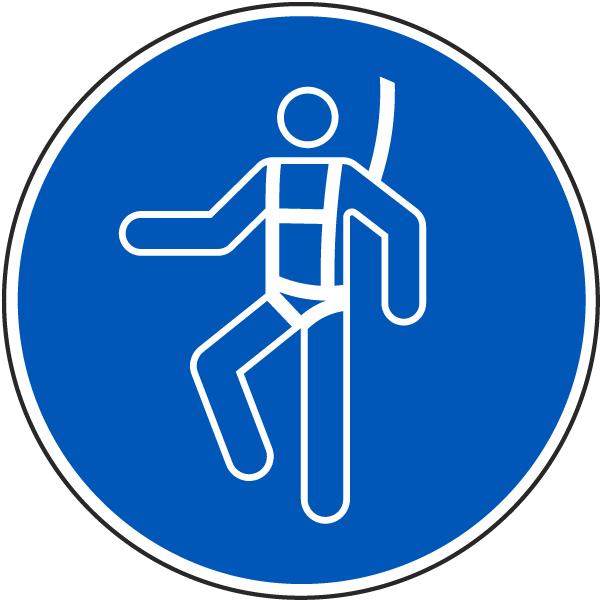 Wear A Safety Harness Label