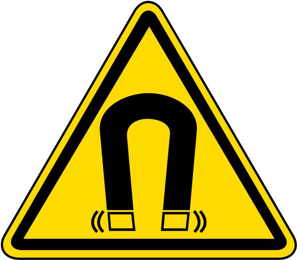 Magnetic Field Warning Label