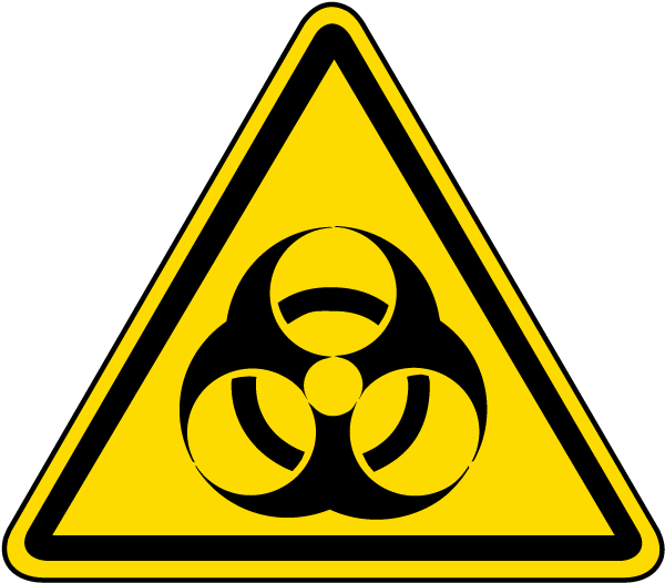 Biological Hazard Warning Label