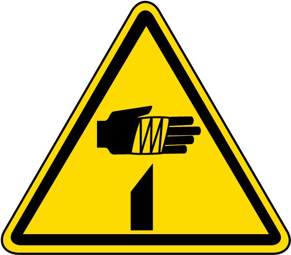 Sharp Element Warning Label