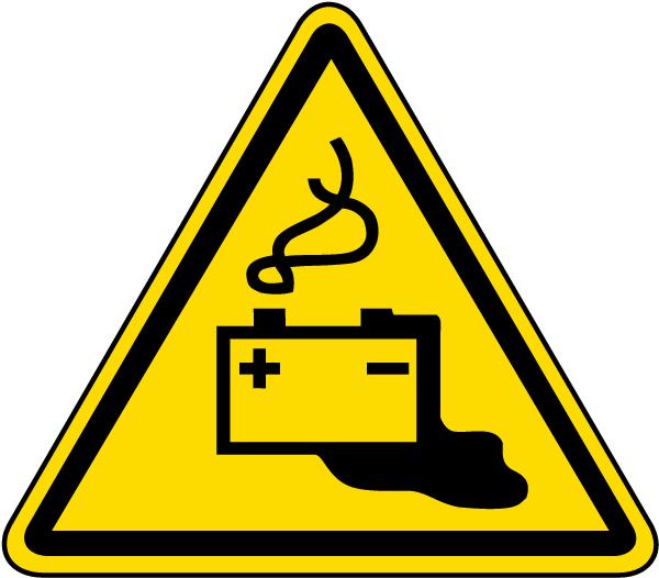 Battery Charging Warning Label
