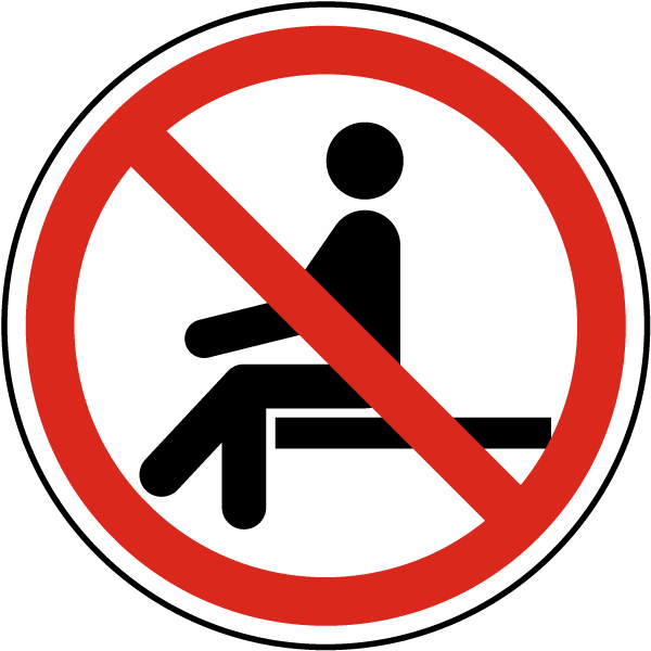 No Sitting Label
