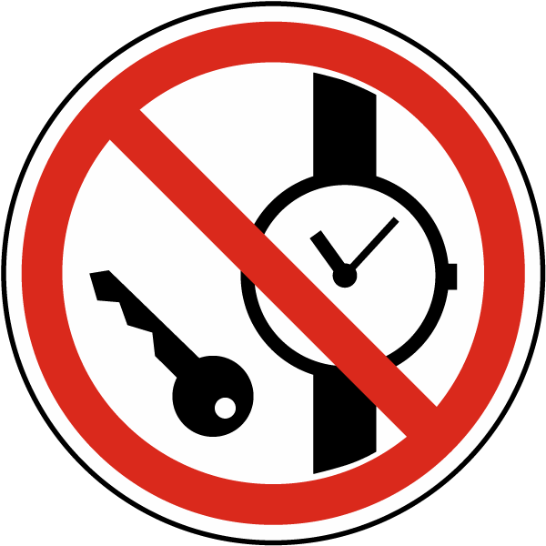 No Metallic Articles or Watches Label