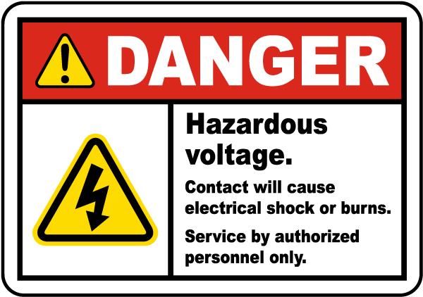 Hazardous Voltage Will Shock Label J6823 By Safetysign Com