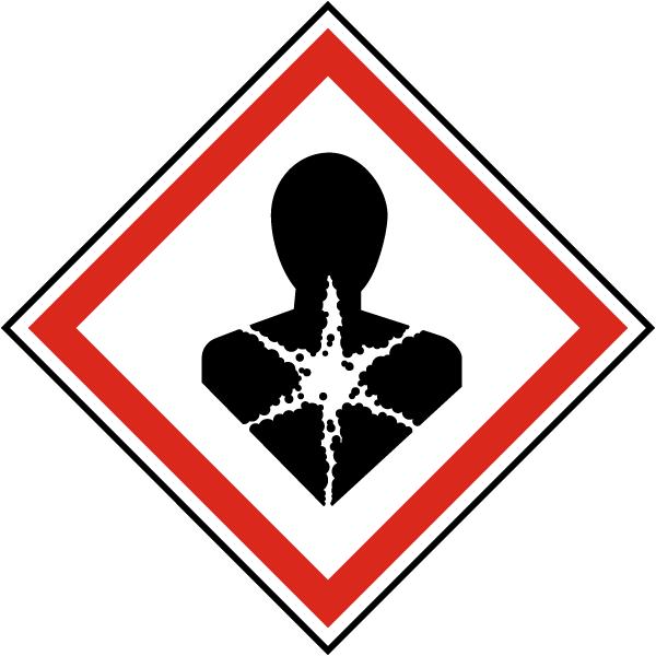 GHS01 Health Hazard Symbol Label