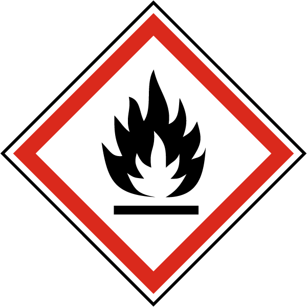 GHS02 Flammable Symbol Label
