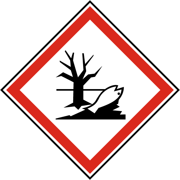 GHS08 Harmful to the Environment Symbol Label