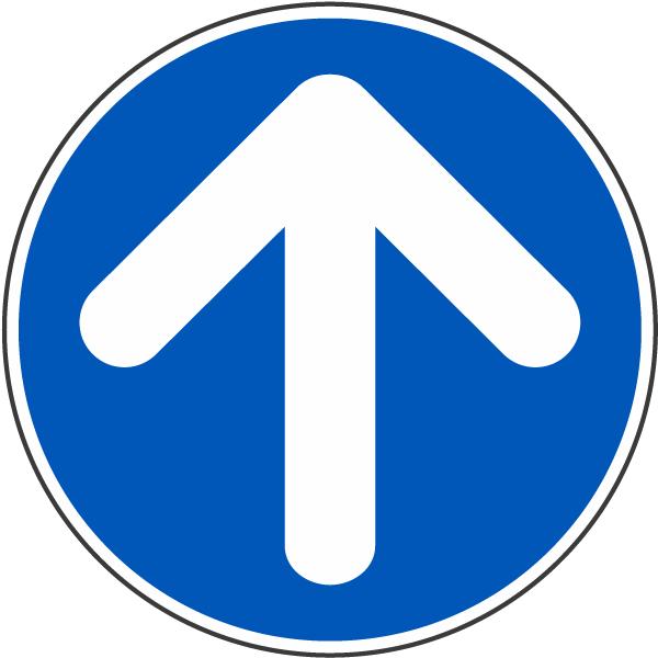 Up Arrow Label