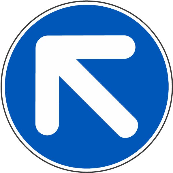 Diagonal Left Arrow Label