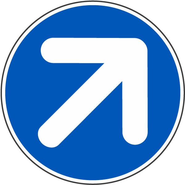 Diagonal Right Arrow Label