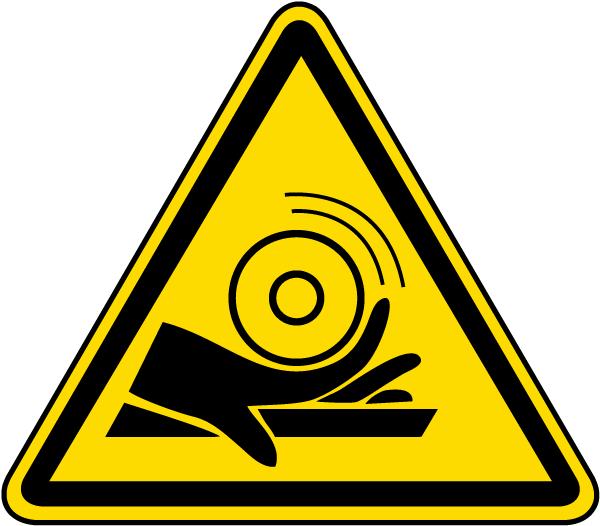 Hand Entanglement / Roller Warning Label