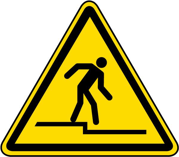 Step Down Warning Label