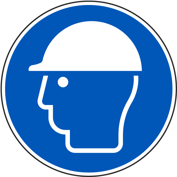 Wear Head Protection Label