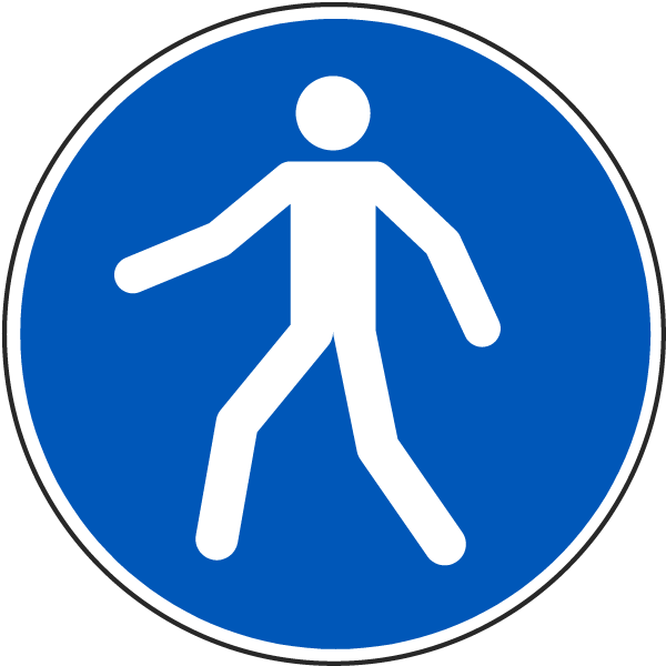 Use This Walkway Label