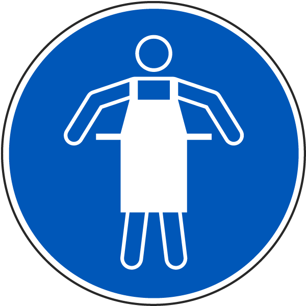 Use Protective Apron Label