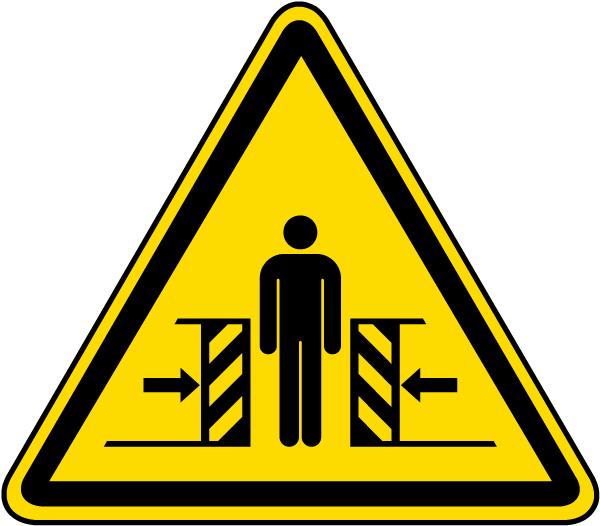 Warning Crushing Label