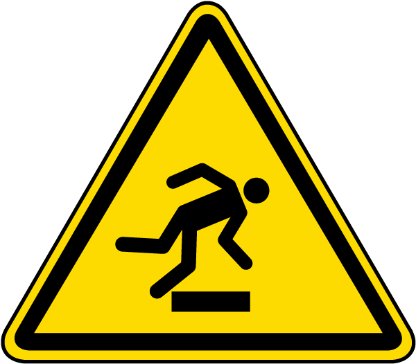 Warning Floor-Level Obstacle Label
