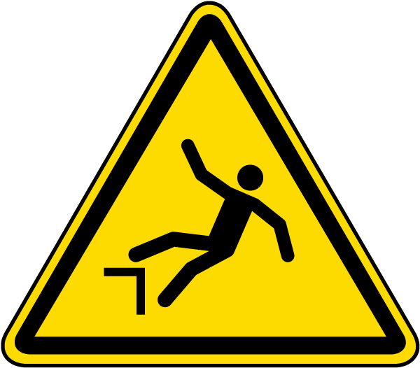 Warning Drop (Fall) Label