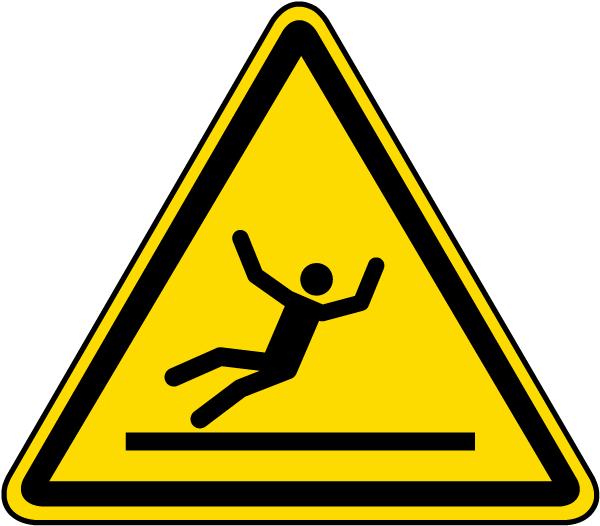 Warning Slippery Surface Label