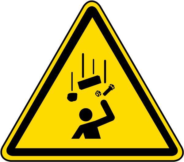 Warning Falling Objects Label