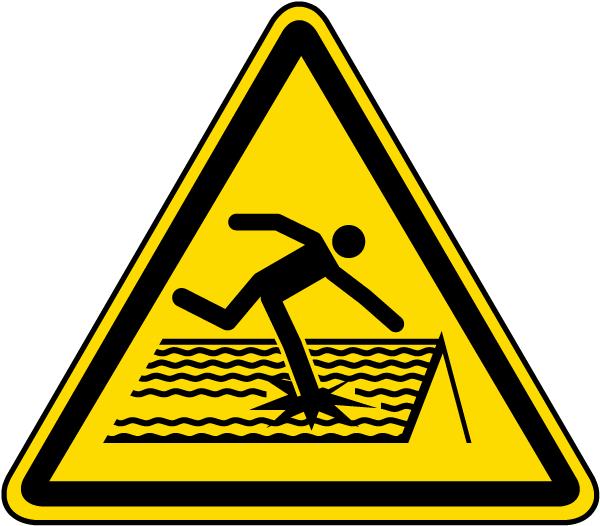 Warning Fragile Roof Label