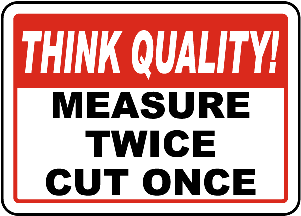 Measure Twice Cut Once Sign