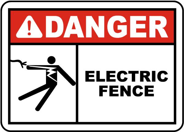 Danger Electric Fence Sign