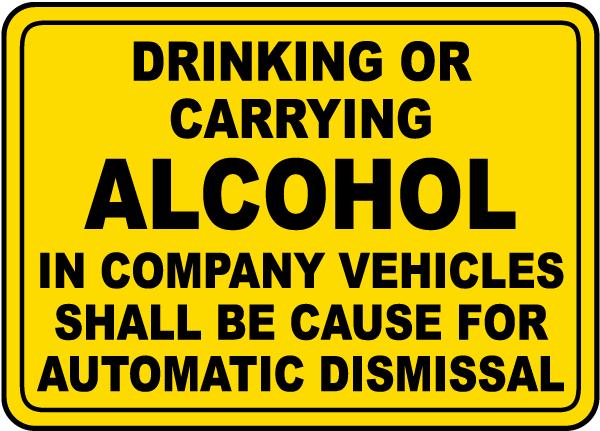 Alcohol Automatic Dismissal Label