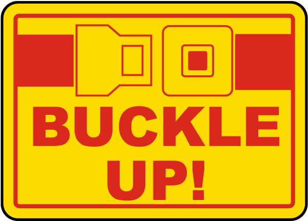 Buckle Up label