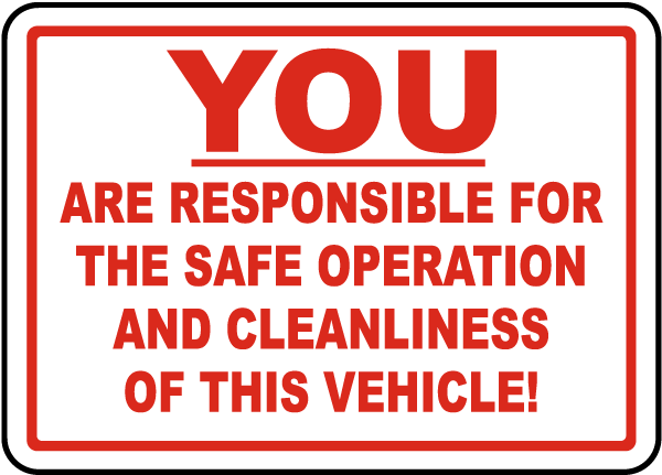 Responsible For Safe Operation Label