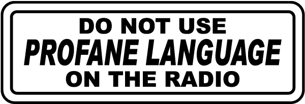 Do Not Use Profane Language Label