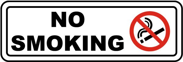 No Smoking Label