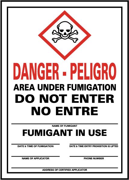 Danger Pesticides Do Not Enter Sign