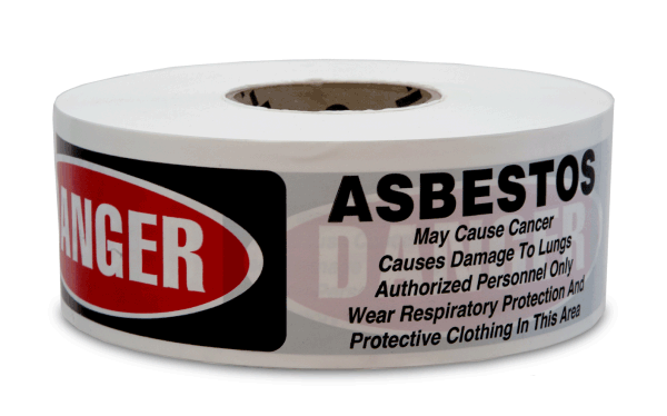 Danger Asbestos Cancer And Lung Disease Hazard Authorized Personnel Only Barricade Tape